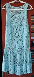 dress tunic klänning tunika ananasmönster pineapple pattern crochet virkad