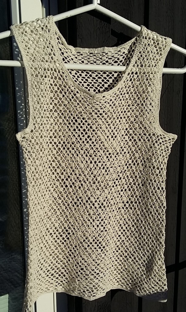 crochet top tunic mercerized cotton yarn  virkad top linne tunika oblek merceriserat 12/3 garn