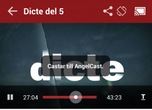 chromecast dicte tv4play