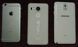 iphone 6 vs nexus 5x vs Samsung Galaxy Note 3