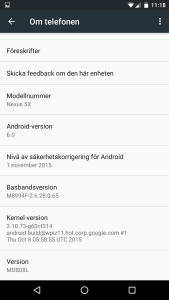 nexus 5x 6p android 6.0 marshmallow version utvecklare developer