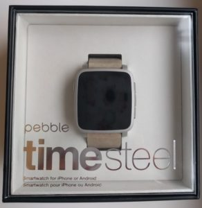 pebble time steel silver smartwatch smart watch smart klocka smartklocka