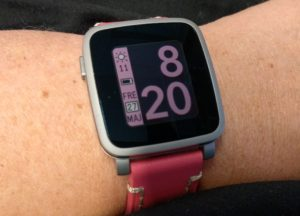 pebble time steel pink strap rosa armband smartwatch smartklocka